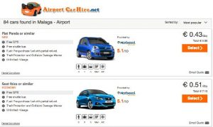 Best car hire deals in Spain <br> for 43 cents a day
