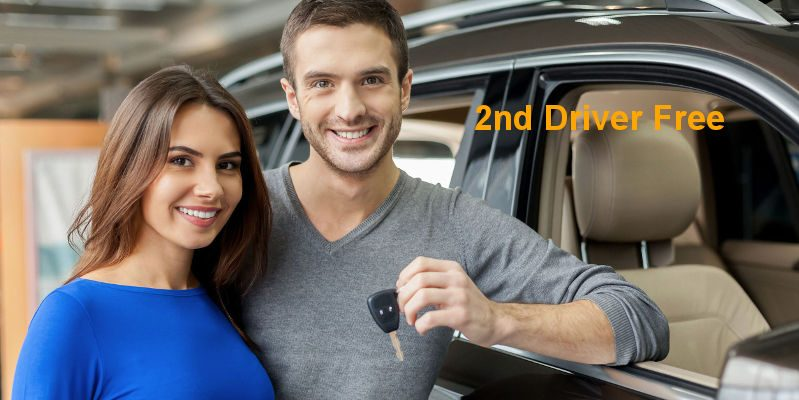 Free additional driver on car hire in alicante