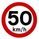 50 KM/H in Built up Areas Greece